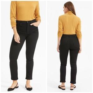 Everlane | NWT High Rise Slim Straight Black Jeans